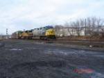 CSX 683 & UP 4243 lead the EB CSX Q112 on the #1 Track